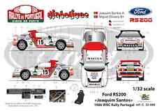 "[FFSMC Productions] Decals 1/32 Ford RS 200 ""Joaquim Santos"" Portugal 1986"
