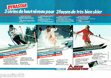 PUBLICITE ADVERTISING 016  1982  DYNASTAR  les skis Oméga Omeglass MV5 (2p)