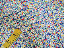 "Liberty of London Fabric Swim Amy Hurrel Hurrell C Blue Yellow Red 55""W, BT 1/2Y"