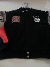 MENS VINTAGE West Coast Choppers Mac Tools RACING Spider Web Jacket LARGE
