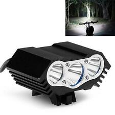 10000Lm 3 x CREE T6 LED Headlight Rechargeable Lamp Light Bicycle Cycling Torch