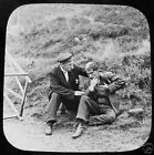Glass Magic lantern slide FALLEN BY THE WAY NO2 PUNCH AND JUDY C1890 VICTORIAN