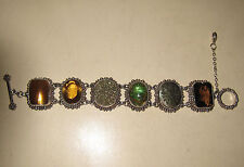 STEPHEN DWECK Sterling Silver Gemstone Bracelet - Druzy - Rutilated Quartz
