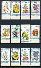 Indonesië 3 postfrisse series motief bloemen