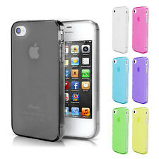 TPU Case for iPhone 4 4S Silicone Case Shell Bumper Cover Dust Cover-black