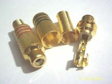 10 pcs  Gold Plated RCA socket  Audio Female ADAPTER  Spring