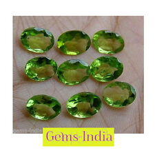 7-8mm Lot 9pcs VVS Oval Natural MINT GREEN PERIDOT GEMSTONES LOT~GEMS-INDIA