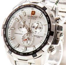 SWISS MILITARY HANOWA Edelstahl Herren Chronograph Crusader Uhr NEU Chrono 2