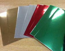 Sobres Y Tarjetas en Blanco 25 Paquete De John Lewis 250gsm Brillante Espejo Colores de Navidad
