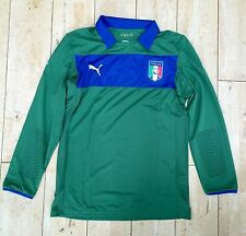 Puma Italia Italia Player Issue PORTIERE FOOTBALL JERSEY SHIRT Green RARA L