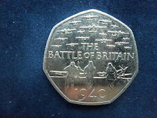 50P COIN  - THE BATTLE OF BRITAIN  1940    -  2015