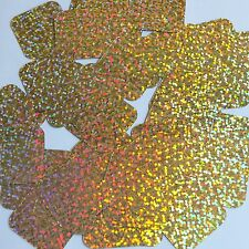 Sequin Square 30mm Gold Hologram Glitter Sparkle Metallic. Made in USA