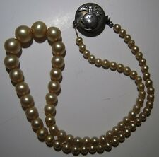 WW2 USMC Faux Pearls W/ Sterling EGA Clasp- Marine Corps Sweetheart