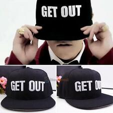 GET OUT Print Men Womens Bboy Hip-Hop adjustable Brim Baseball Snapback Hat Cap