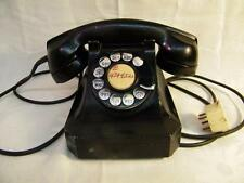1953 Vintage STROMBERG  CARLSON Black Rotary Dial Desk Phone 1243W AS IS