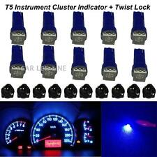 10 x T5 Blue 58 70 73 74 Dashboard Gauge 5050 SMD LED Wedge Lamp Bulb Lights