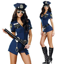 Fashion Sexy Police Cop Uniform Costume Women Halloween Cosplay Fancy Dress New
