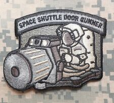 SPACE SHUTTLE DOOR GUNNER ARMY MORALE ACU VELCRO® BRAND FASTENER PATCH