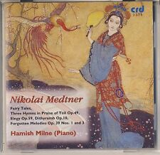 Medtner - Hamish Milne: Fairy Tales; Short Pieces (1994, CRD Records) Like New