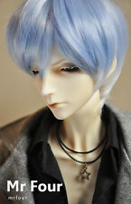 "1/3 BJD Uncle SD Doll 8-9""inches Doll Head Light Water Blue Fur Wig Dollfie"