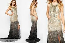 A STAR IS BORN EXCLUSIVE LUXE EMBELLISHED MAXI DRESS BEADED SEQUINS UK 8 US 4