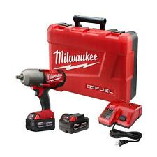 "NEW Milwaukee M18 1/2"" High Torque Impact Wrench Kit, 1100 ft lbs! #2763-22"