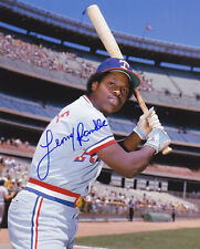 LENNY RANDLE  TEXAS RANGERS    ACTION SIGNED 8x10