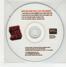 (GG60) Fight Like Apes, Lend Me Your Face - 2009 DJ CD