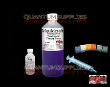 250g MOULDCRAFT TRANSPARENT VIOLET COLOUR CASTING RESIN KIT FOR JEWELLERY