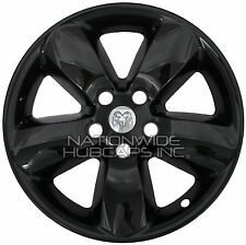 "4 BLACK Dodge Ram 1500 Truck 20"" Wheel Skins Hub Caps 5 Spoke Alloy Rim Covers G"