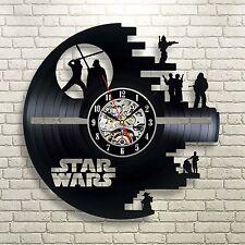 New Large Vintage Round Modern Home Bedroom Retro Time Vinyl Wall Clock Quartz