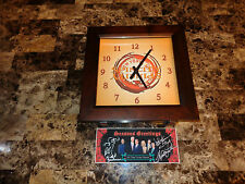 Spin City TV Show Rare Promo Clock + Signed Card Charlie Sheen Heather Locklear