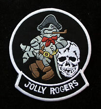 VF-103 VF-84 JOLLY ROGERS US NAVY AUTHENTIC JACKET PATCH SKULL PIN UP F14 F4 WOW