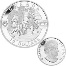 2013 O Canada Series $10 Fine Silver  Coin - Holiday Season (TAX Exempt)