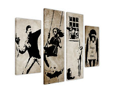 BANKSY STENCIL COLLECTION CANVAS PRINTS WALL PICTURES ARTWORK DECORATION XXL