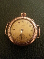 Antique ELGIN Woman Wristwatch Gold Filled Working