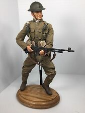 "1/6 DRAGON CUSTOM USMC WW1 ""DEVIL DOG"" MARINE BAR GUNNER + OAK STAND DID BBI"