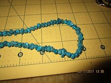 Vintage Navajo Sterling Turquoise Nugget  Heishi Necklace bench bead