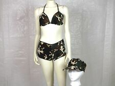 "Sexy ""BOOTY CAMP"" CAMO Uniform 3 pc OUTFIT Military FULL COSTUME Womens MED"