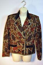 Geiger Boiled Wool Floral Hunt Jacket Velvet Collar Greens Gorgeous! 36 / 6 S