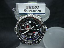 New SEIKO SUPERIOR DIVER 100m WITH STAINLESS STEEL BRACELET SSA095 NS10.