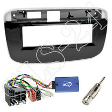 Kenwood Radio Lenkradinterface + Fiat Punto EVO 199 Radioblende Blende piano Set
