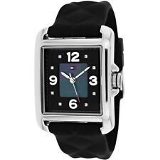 New Tommy Hilfiger Women Black Silicone Pearl Dial Watch 32x42mm 1781244 $105