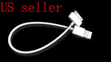 27CM Short Colors USB Cable Cord Data Sync Charger for iP ad iPhone 4S 4 3GS 3G