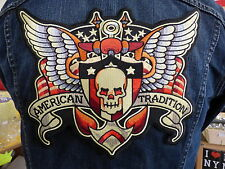 GRAND ECUSSON PATCH THERMOCOLLANT/ AMERICAN TRADITION biker tatoo tatouage métal