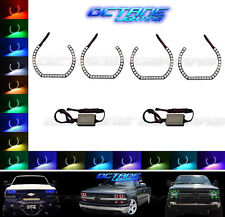 99-02 Chevy Silverado Multi-Color Changing Shift LED RGB Headlight Halo Ring Set