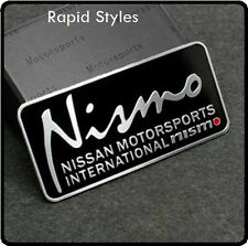 NISMO Badge Emblema Decalcomania Sticker LOGO NISSAN Motorsport IN ALLUMINIO AUTO IN METALLO (65)