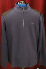 NWT Mens X-Large Calvin Klein Dressy Refined Navy New XL 40QK202 1/4 Zip