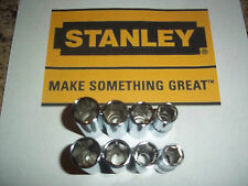 "NEW STANLEY 8pc 3/8"" SAE & METRIC DEEP 6pt Socket Set Hand Tools Standard Drive"