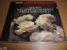 CHOPIN cd BALLADES IMPROMPTUS Bella Davidovich PHILIPS w germany